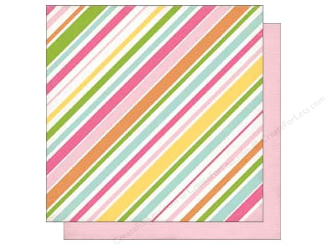 Echo Park 12 x 12 in. Paper Birthday Wishes Girl Collection Stripes (25 sheets)