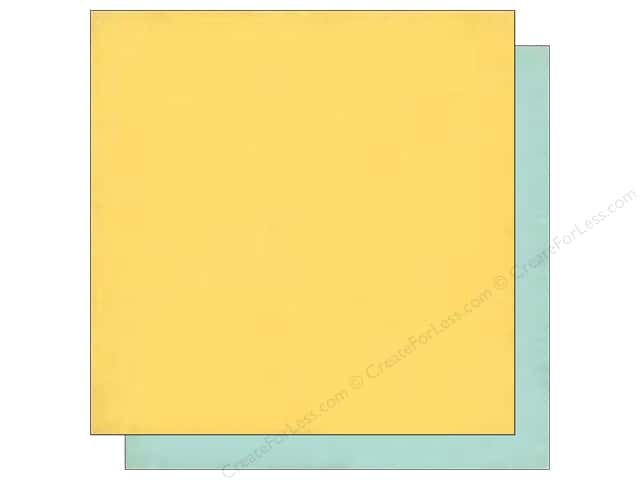 Echo Park 12 x 12 in. Paper Birthday Wishes Girl Collection Yellow/Lt. Blue (25 sheets)