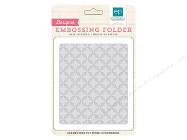 Echo Park Birthday Wishes Girl Collection Embossing Folder Quilted Star