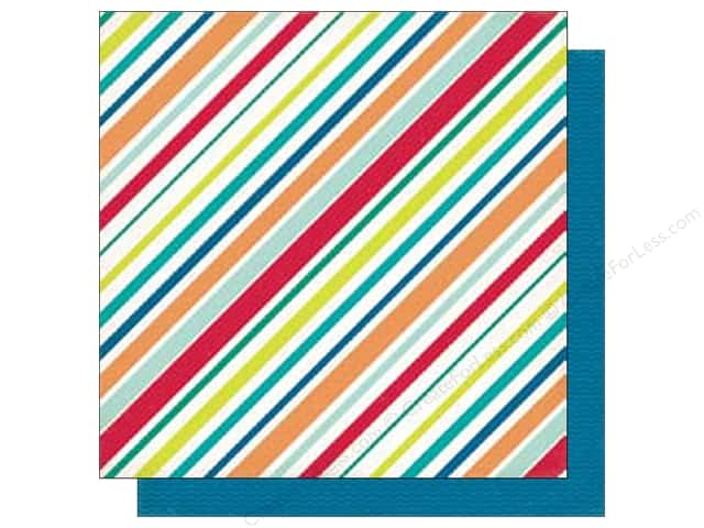 Echo Park 12 x 12 in. Paper Birthday Wishes Boy Collection Stripes (25 sheets)