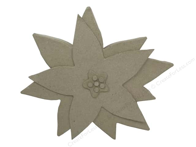 PA Paper Mache Table Decor Poinsettia 9 in.