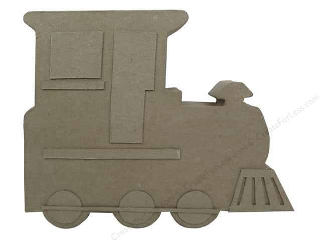 PA Paper Mache Table Decor Train 11 in.