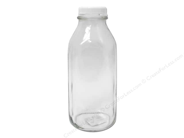 Crisa by Libbey Glass Milk Bottle With Lid 9 in.