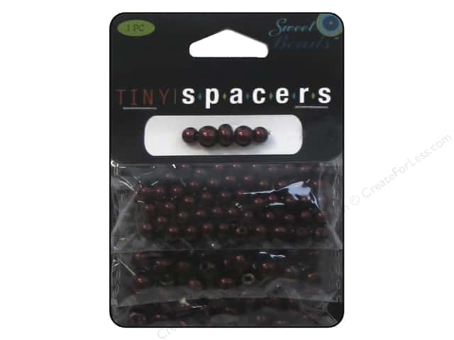 Sweet Beads Tiny Spacers Glass Pearl Assorted Size 150 pc. Red