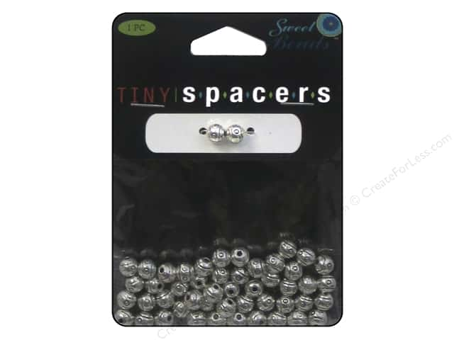 Sweet Beads Tiny Spacers Round 5.5 mm 50 pc. Silver
