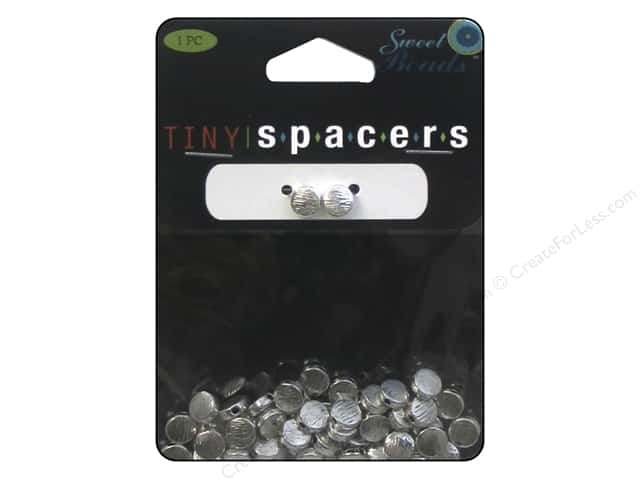 Sweet Beads Tiny Spacers Lentil 6 mm 50 pc. Silver