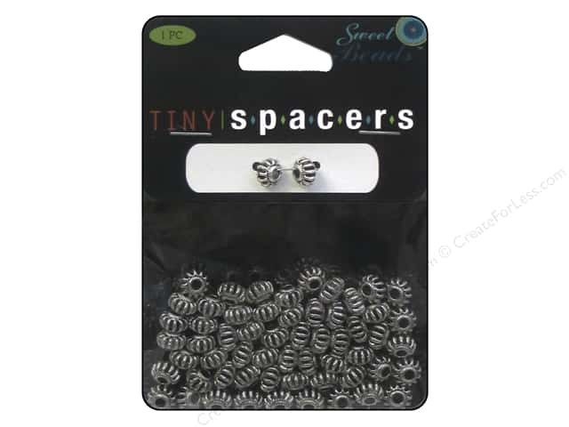 Sweet Beads Tiny Spacers Rondelle 4.5 x 6.5 mm 60 pc. Silver