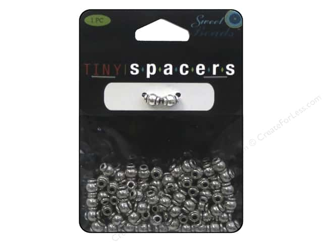Sweet Beads Tiny Spacers Tube 5 x 6 mm 70 pc. Silver