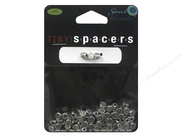 Sweet Beads Tiny Spacers 3-Side 4.5 mm 80 pc. Silver
