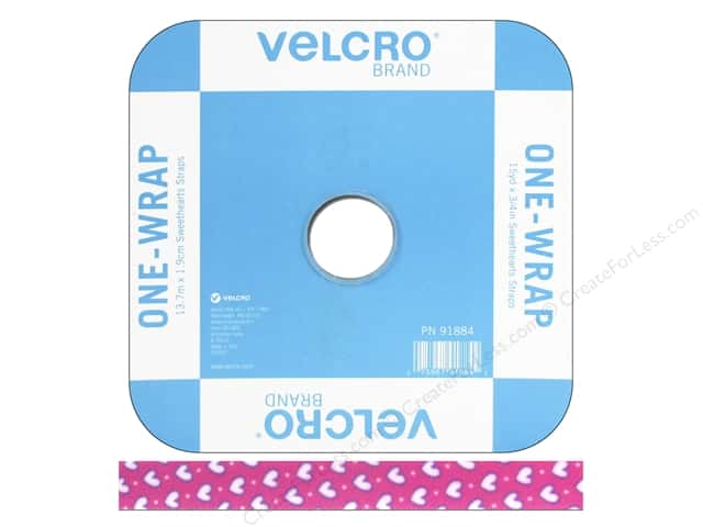 Velcro One Wrap Strap 3/4 in. x 45 ft. Sweetheart Pink (45 feet)
