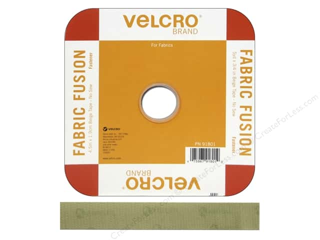 Velcro Fabric Fusion Tape 3/4 in. x 15 ft. Beige (15 feet)