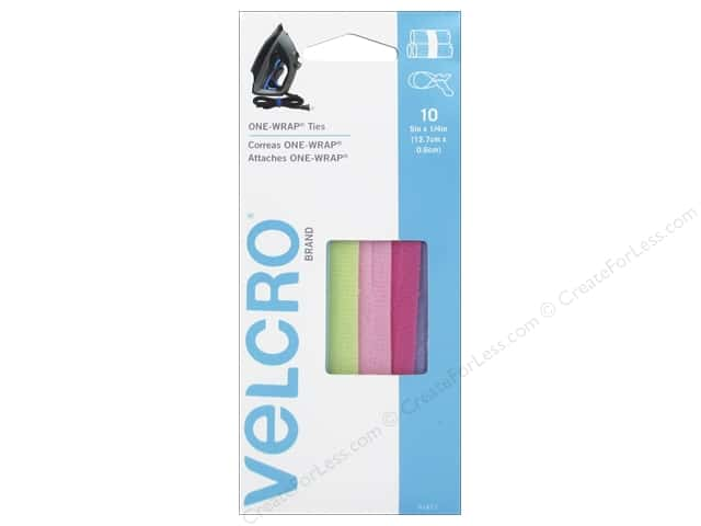 Velcro One Wrap Ties 5 x 1/4 in. Bright 10pc.