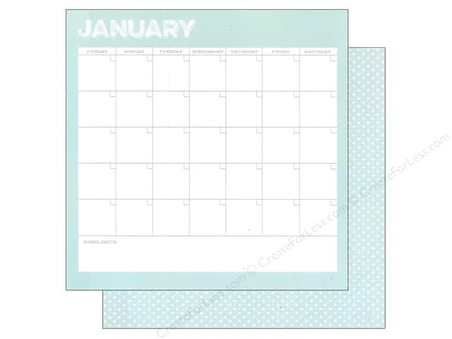 Simple Stories 12 x 12 in. Paper Life Documented January Calendar (25 sheets)