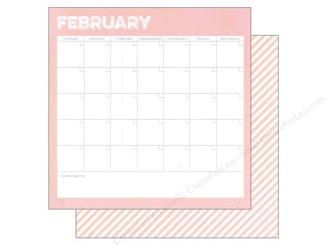Simple Stories 12 x 12 in. Paper Life Documented February Calendar (25 sheets)