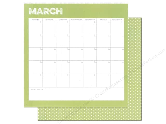 Simple Stories 12 x 12 in. Paper Life Documented March Calendar (25 sheets)