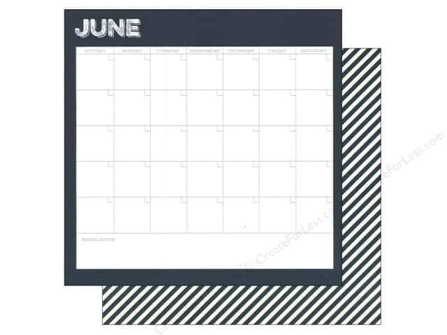 Simple Stories 12 x 12 in. Paper Life Documented June Calendar (25 sheets)