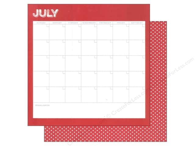 Simple Stories 12 x 12 in. Paper Life Documented July Calendar (25 sheets)