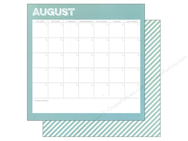 Simple Stories 12 x 12 in. Paper Life Documented August Calendar (25 sheets)