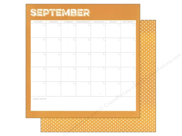 Simple Stories 12 x 12 in. Paper Life Documented September Calendar (25 sheets)
