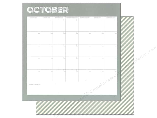 Simple Stories 12 x 12 in. Paper Life Documented October Calendar (25 sheets)