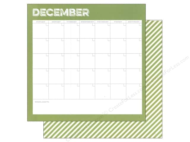 Simple Stories 12 x 12 in. Paper Life Documented December Calendar (25 sheets)