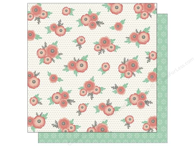 Pebbles 12 x 12 in. Paper Jen Hadfield Cottage Living Dot Blossom (25 sheets)