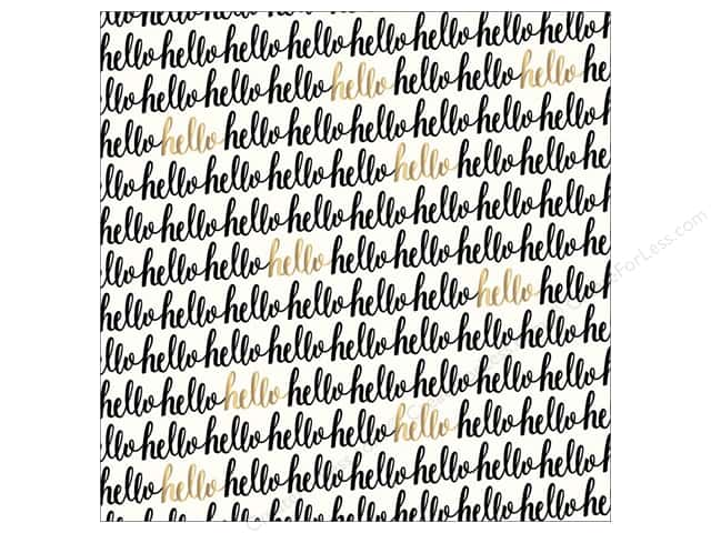 Pebbles 12 x 12 in. Paper Jen Hadfield Cottage Living Hello Gold (15 sheets)