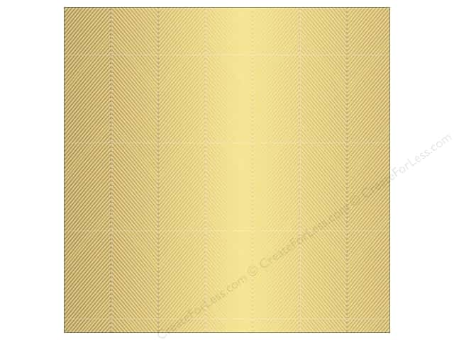 Pebbles 12 x 12 in. Paper Jen Hadfield Cottage Living Chevron Gold (15 sheets)