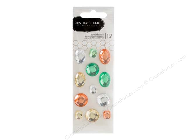 Pebbles Jen Hadfield Cottage Living Collection Stickers Jewel