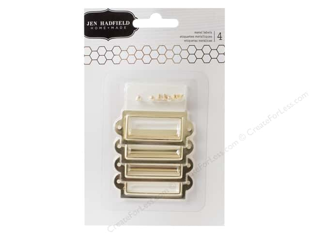Pebbles Jen Hadfield Cottage Living Collection Metal Labels Gold