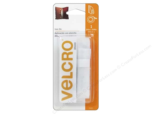 Velcro Fabric Fusion Tape 3/4 x 24 in. White