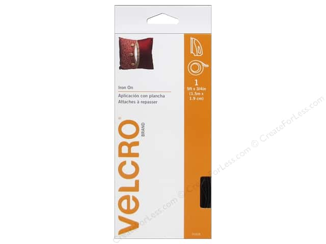 Velcro Fabric Fusion Tape 3/4 in. x 5 ft. Black