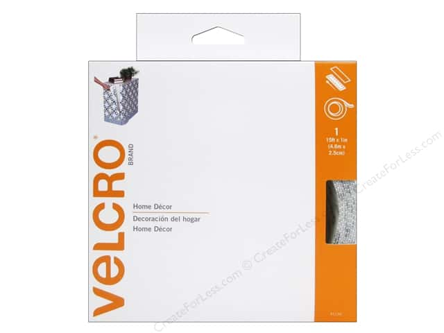 Velcro Sew On & Sticky Back 1 in. x 15 ft. White (15 feet)
