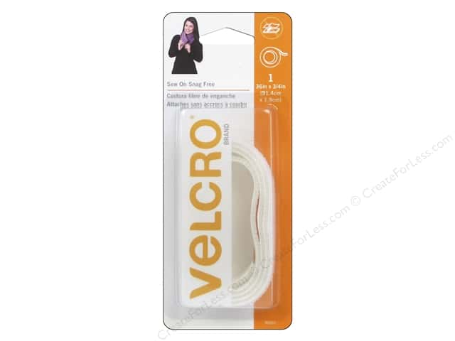 Velcro Sew On Tape 3/4 x 36 in. White