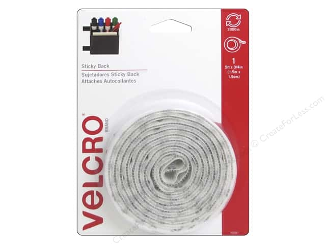 Velcro Sticky Back Tape 3/4 in. x 5 ft. White