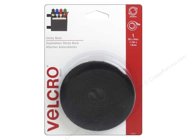 Velcro Sticky Back Tape 3/4 in. x 5 ft. Black