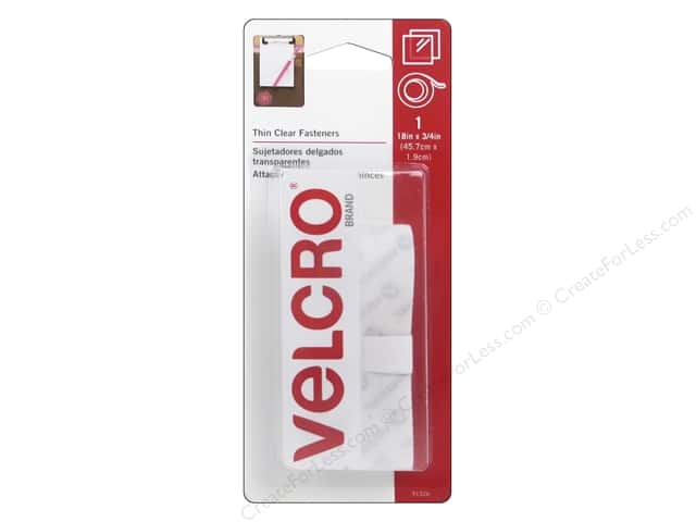 Velcro Sticky Back Tape 3/4 x 18 in. Clear