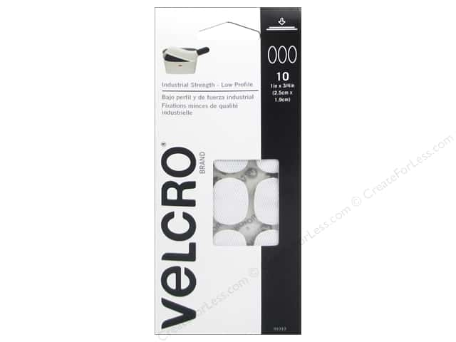 Velcro Sticky Back UltraThin 1 x 3/4 in. White 10 pc.