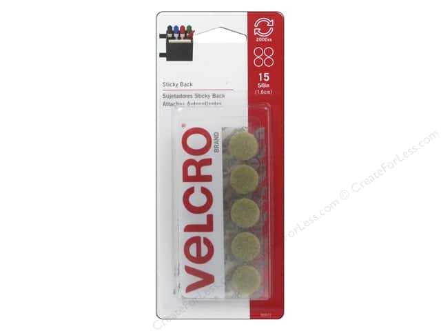 Velcro Sticky Back Coin Fasteners 5/8 in. Beige 15 pc.
