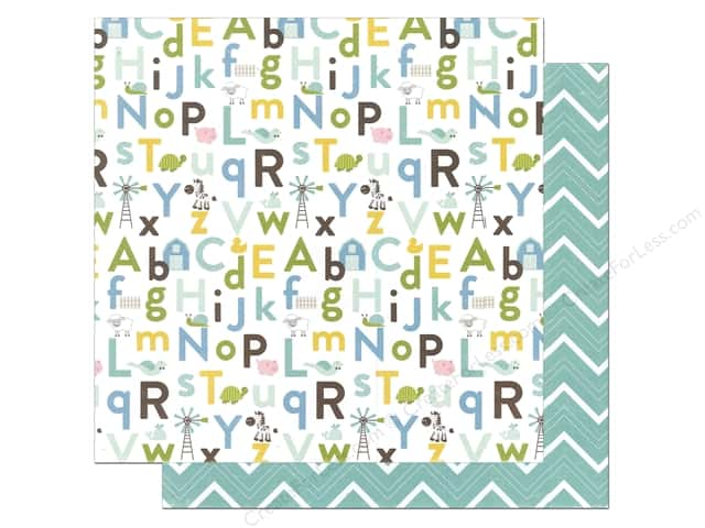 Echo Park Bundle of Joy Boy Collection Baby Boy Alphabet (25 sheets)