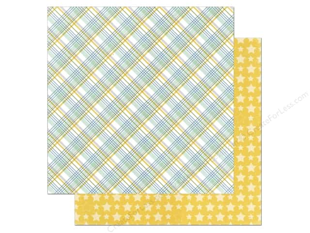 Echo Park 12 x 12 in. Paper Bundle of Joy Boy Collection Baby Boy Plaid (25 sheets)