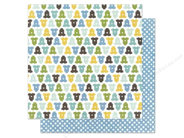 Echo Park 12 x 12 in. Paper Bundle of Joy Boy Collection Onsies (25 sheets)