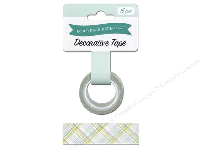 Echo Park Decorative Tape Bundle of Joy Boy Plaid