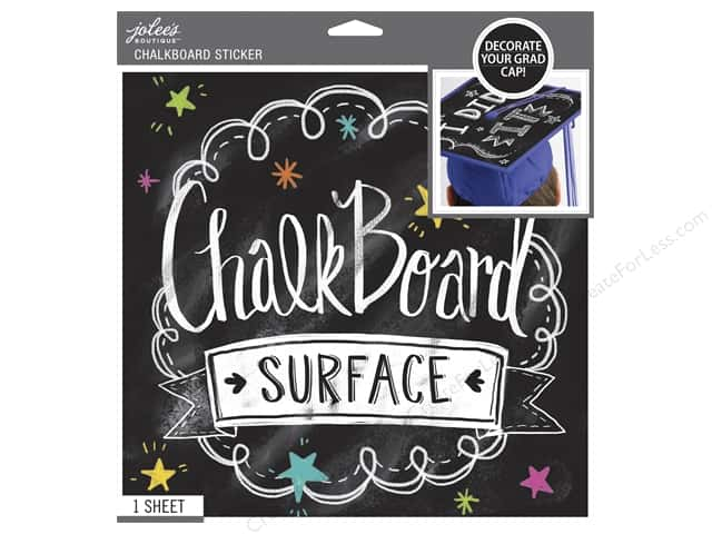 Jolee's Boutique Stickers Grad Cap 10 x 10 in. Chalkboard