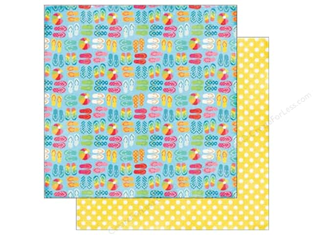 Echo Park 12 x 12 in. Paper I Love Sunshine Collection Sandy Toes (25 sheets)
