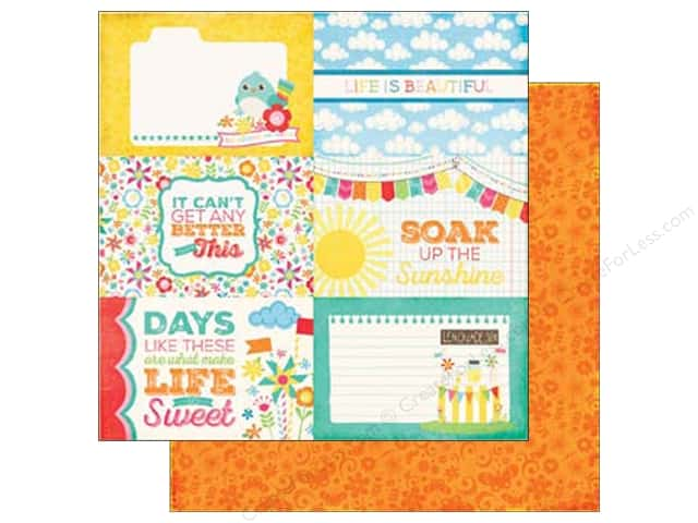 Echo Park 12 x 12 in. Paper I Love Sunshine Collection Journal Card 4 x 6 in. (25 sheets)