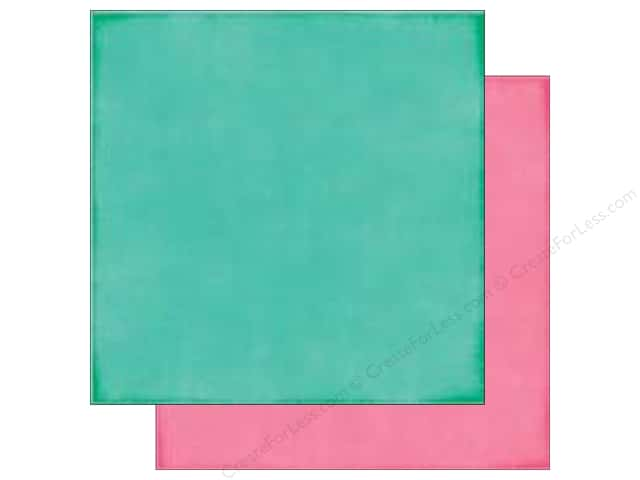 Echo Park 12 x 12 in. Paper I Love Sunshine Collection Teal/Pink (25 sheets)