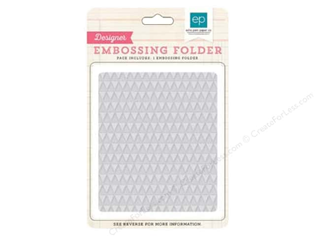 Echo Park I Love Sunshine Collection Embossing Folder Mini Triangle