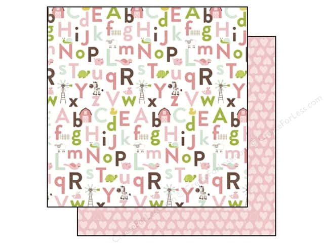 Echo Park 12 x 12 in. Paper Bundle of Joy Girl Collection Alphabet Antics (25 sheets)