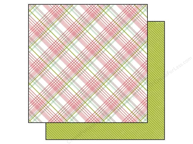 Echo Park 12 x 12 in. Paper Bundle of Joy Girl Collection Baby Girl Plaid (25 sheets)